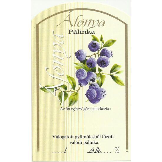 Pálinka üveg címke áfonya II 10 db/cs