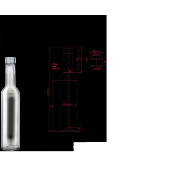 Pálinkás üveg Bella 250 ml