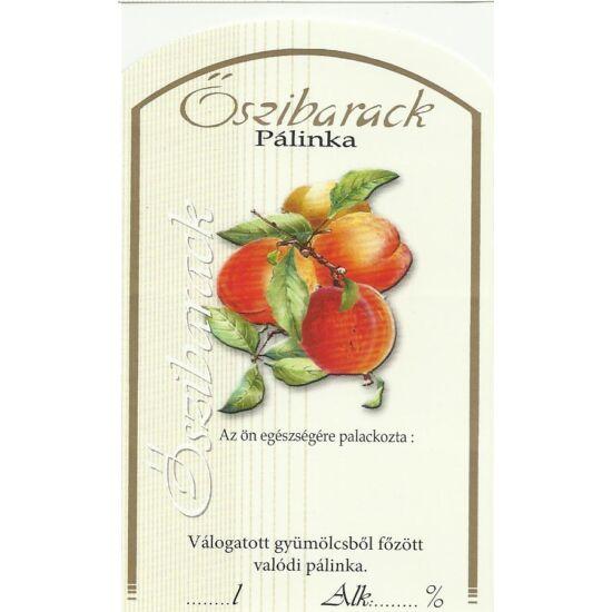 Pálinka üveg címke őszibarack II 10 db/cs