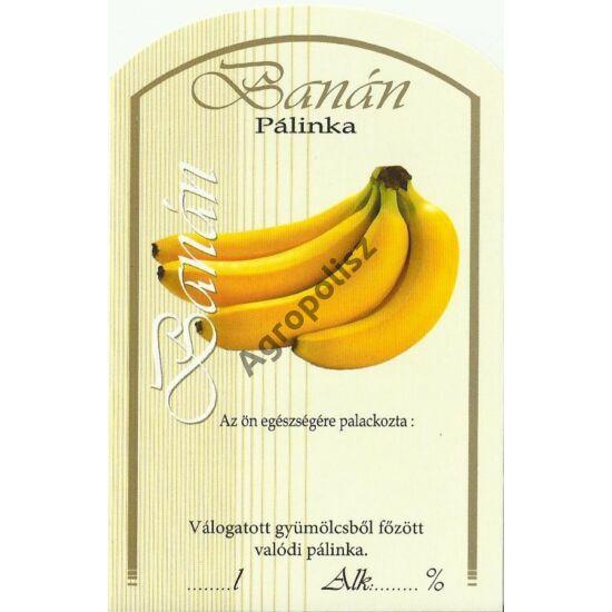 Pálinka üveg címke banán II 10 db/cs