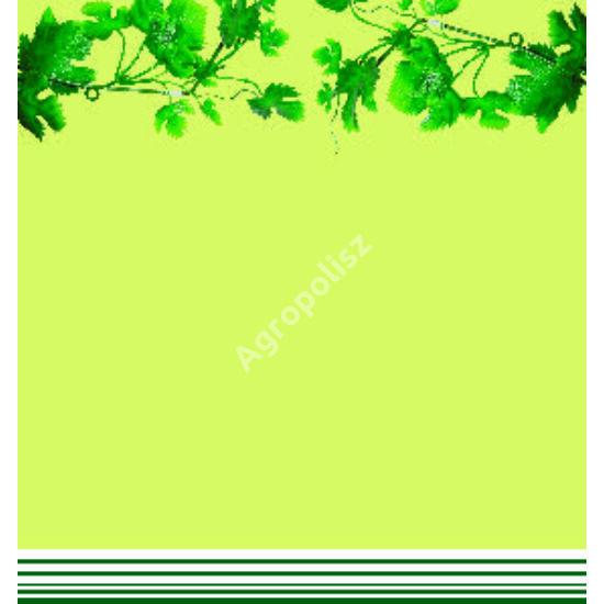 Boros üveg címke felül zöld levelekkel