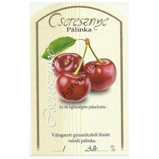 Pálinka üveg címke cseresznye II 10 db/cs