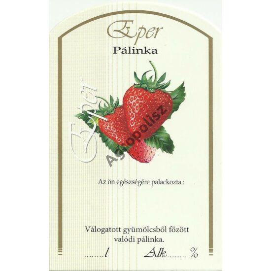 Pálinka üveg címke eper II 10 db/cs