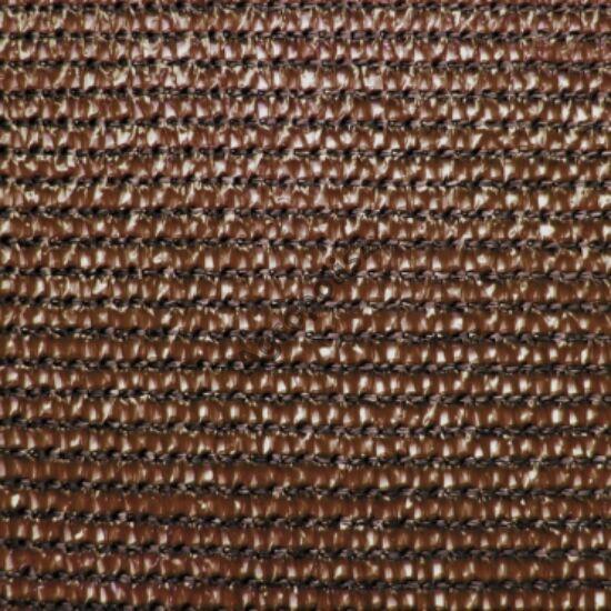 Árnyékoló háló 80 %-s, 2 m x 10 m barna