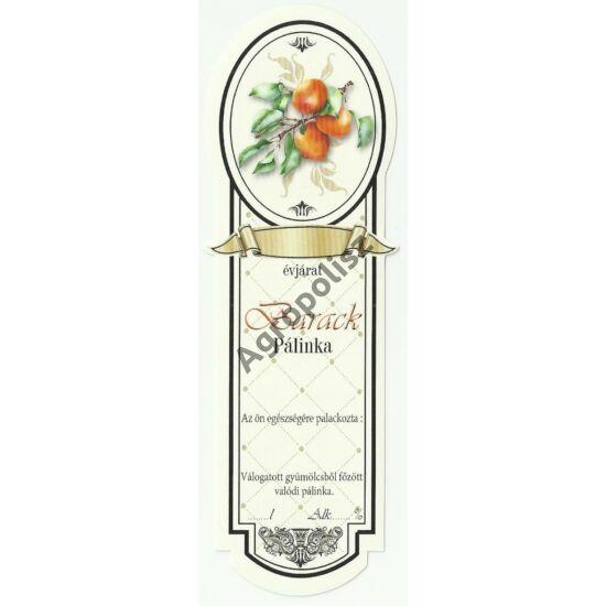 Pálinka üveg címke keskeny sárgabarack 10 db/cs
