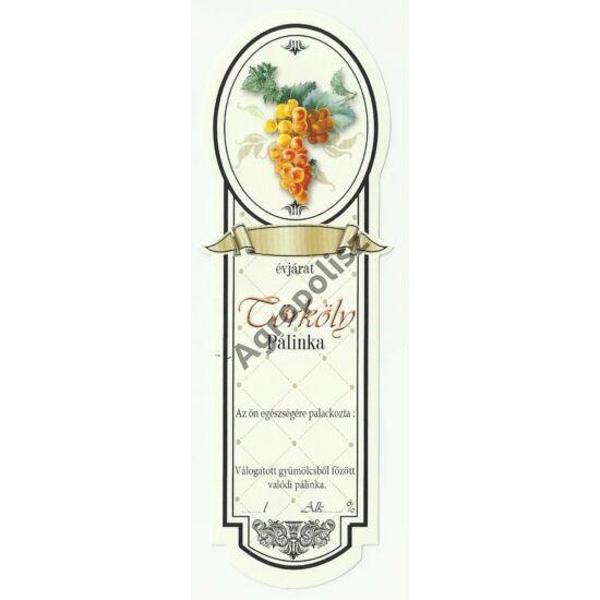 Pálinka üveg címke keskeny törköly 10 db/cs