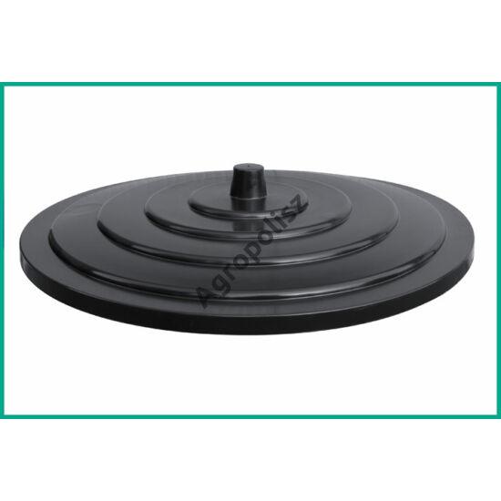 Szüretelőkád tető fedél fekete 500 l-s kádhoz