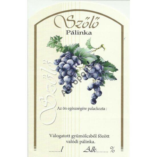 Pálinka üveg címke kék szőlő II 10 db/cs
