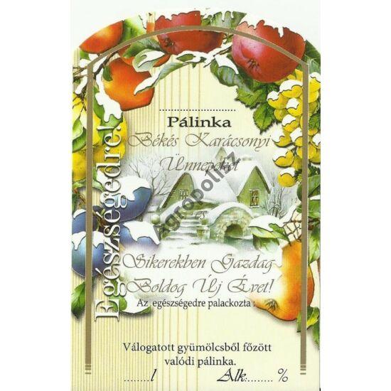 Pálinka üveg címke karácsony 2 II 10 db/cs