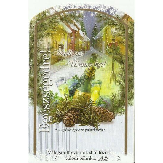 Pálinka üveg címke karácsony 3 II 10 db/cs