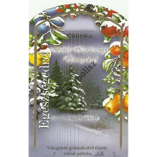 Pálinka üveg címke karácsony 4 II 10 db/cs