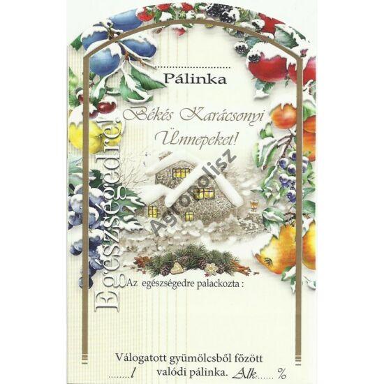 Pálinka üveg címke karácsony 5 II 10 db/cs