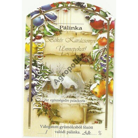 Pálinka üveg címke karácsony II 10 db/cs