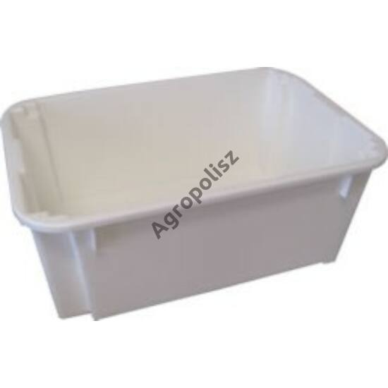 Fehér műanyag húsos láda 40 l