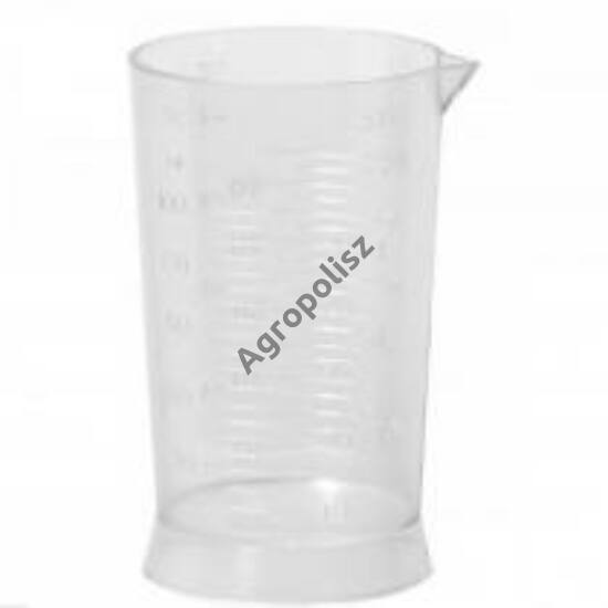 Mérőhenger/pohár 100 ml műanyag, osztásos