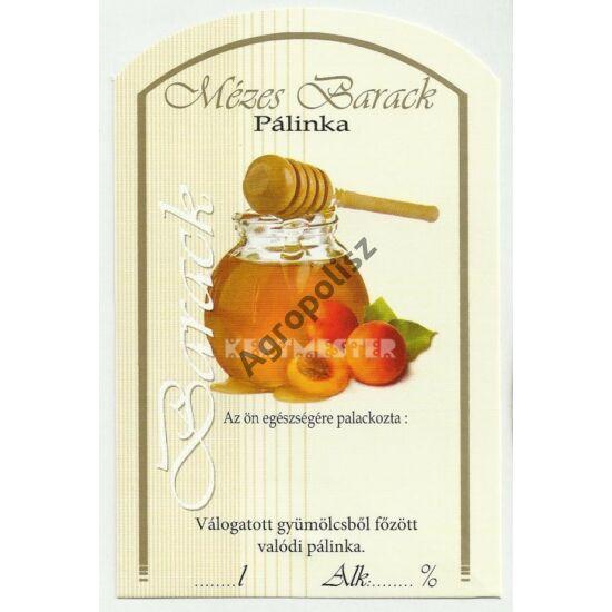 Pálinka üveg címke mézes barack II 10 db/cs