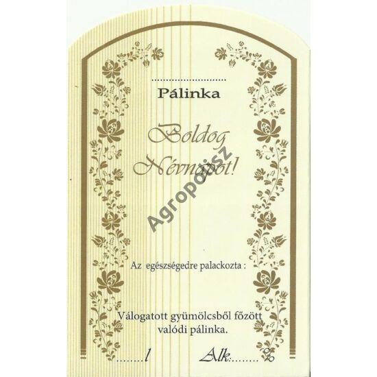 Pálinka üveg címke névnap II 10 db/cs