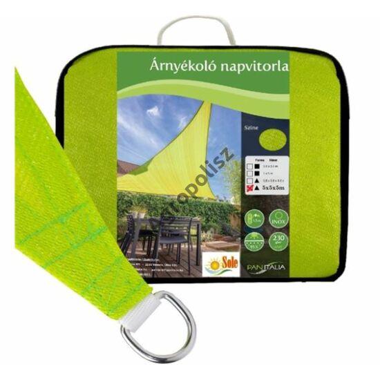 Árnyékoló ponyva / NAPVITORLA 3,6 m x 3,6 m x 3,6 m háromszög Zöld szín
