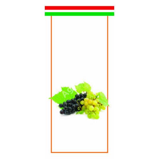 Pálinka üveg címke szőlő, törköly