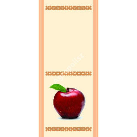 Pálinka üveg címke alma