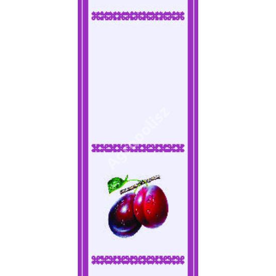 Pálinka üveg címke szilva