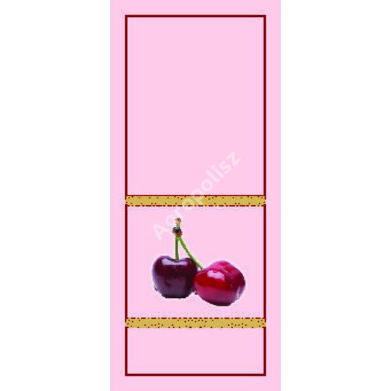 Pálinka üveg címke cseresznye