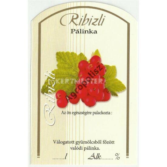 Pálinka üveg címke ribizli II 10 db/cs