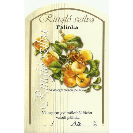 Pálinka üveg címke ringló II 10 db/cs