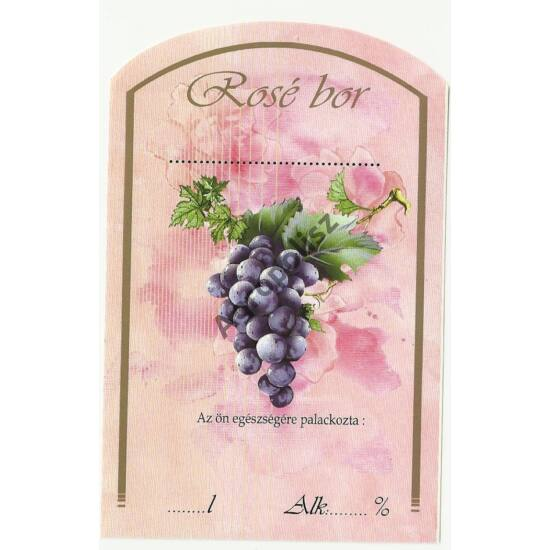 Boros üveg címke rosébor II 10 db/cs