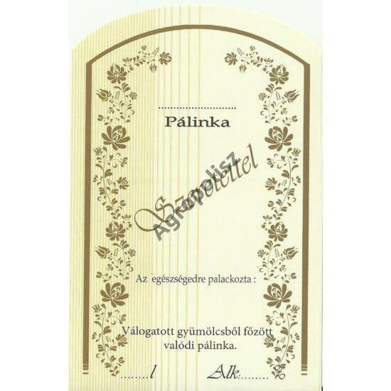 Pálinka üveg címke szeretettel II 10 db/cs
