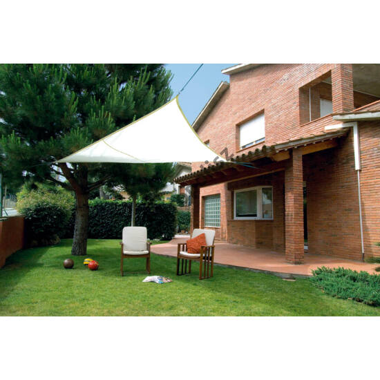Árnyékoló ponyva / NAPVITORLA 3,6 m x 3,6 m x 3,6 m háromszög Beige / Bézs