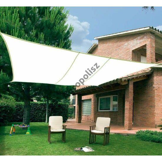 Árnyékoló ponyva / NAPVITORLA 5 m x 5 m négyzet Beige / Bézs