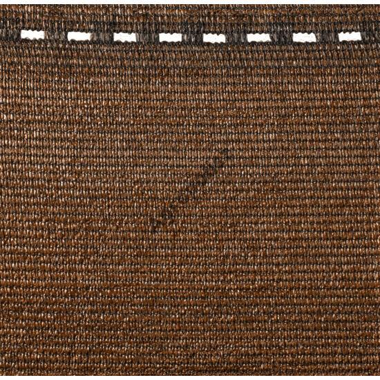 Árnyékoló háló 95 %-s barna 1,5 m x 10 m