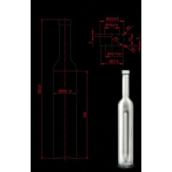 Pálinkás üveg Bella 500 ml 100 db felett