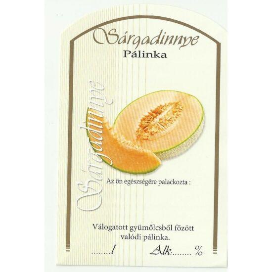 Pálinka üveg címke sárgadinnye II 10 db/cs